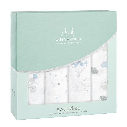 4-Pack Classic Swaddles - Night Sky Reverie