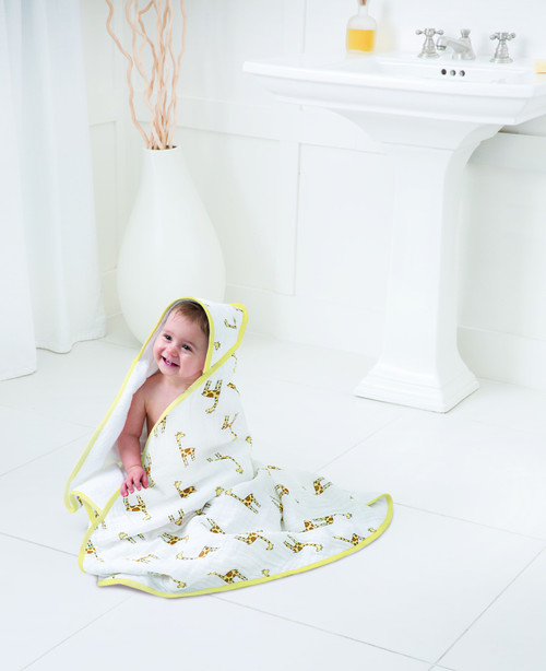 Muslin-Backed Hooded Towel Set - Jungle Jam