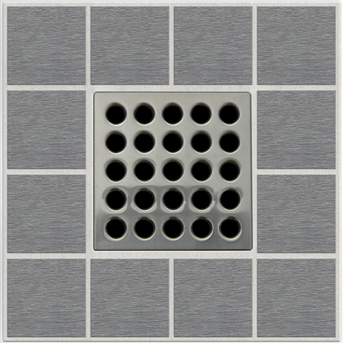 "4"" Grate - Brushed Nickel"