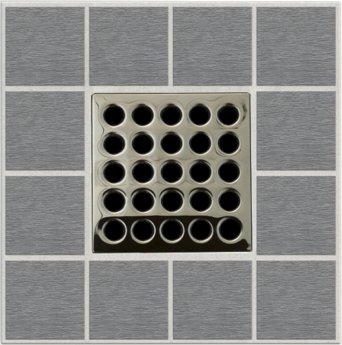"4"" Grate Polished Nickel"