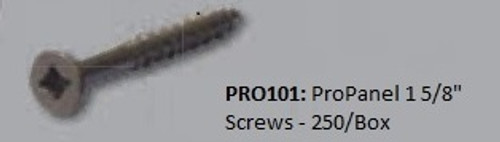 "PRO101: ProPanel 1 5/8"" Screws - 250/Box"
