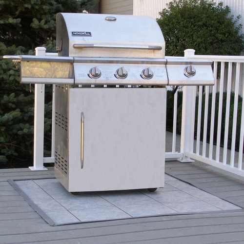 TIK0810: 4' x 4' Deck Tile Insert Underlayment Kit for Outdoor Grill