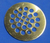 CPSP12SAB: Antique Brass Round Drain Grate for ClearPath
