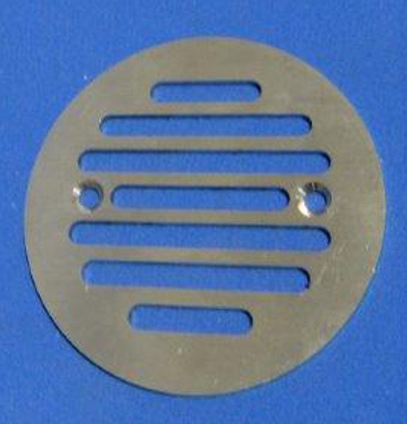Brushed Nickel CAST Round Drain Grate for ClearPath