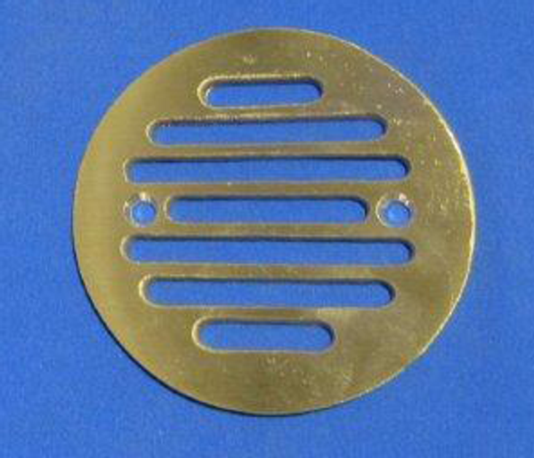 Brushed Brass CAST Round Drain Grate for ClearPath