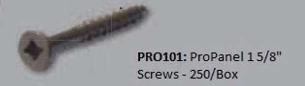 "PRO101: ProPanel 1 5/8"" Screws - 250/Box"