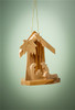 """Mini Grotto with Holy Family and Palm Olive Wood from Bethlehem 2.5""""x2"""" *"""