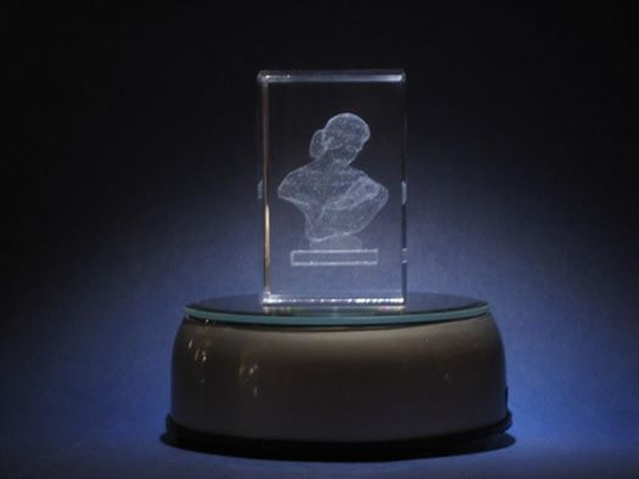Mother's Love Laser Engraved Crystal Cube *