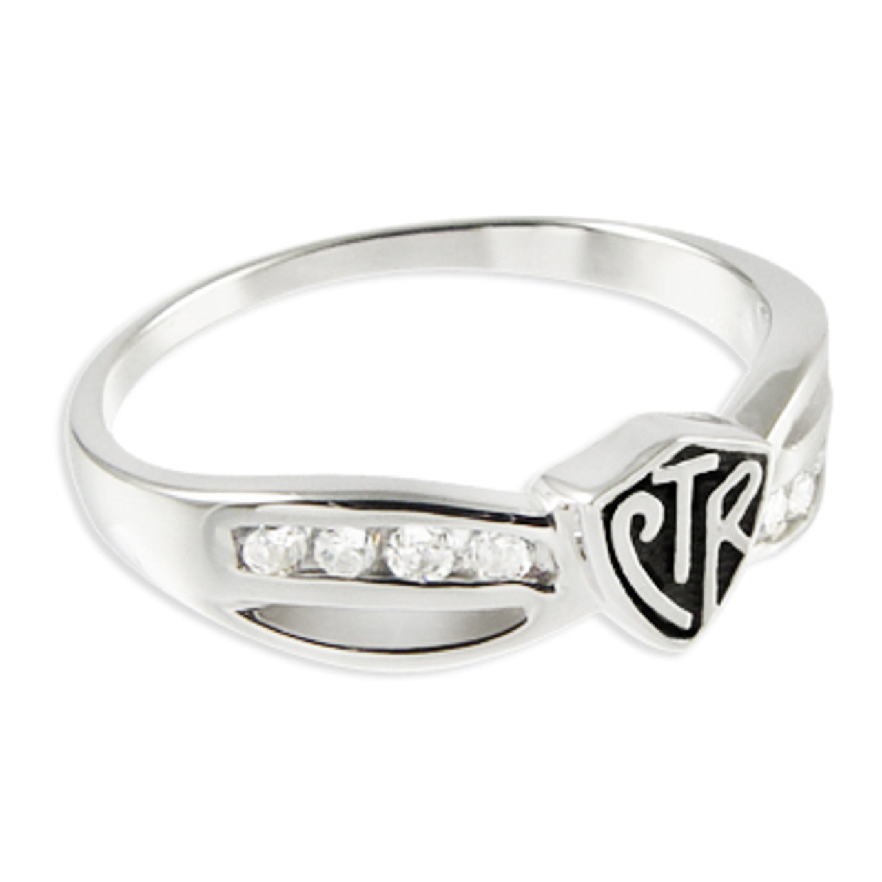 Bow CTR Ring (Antiqued Stirling Silver)*