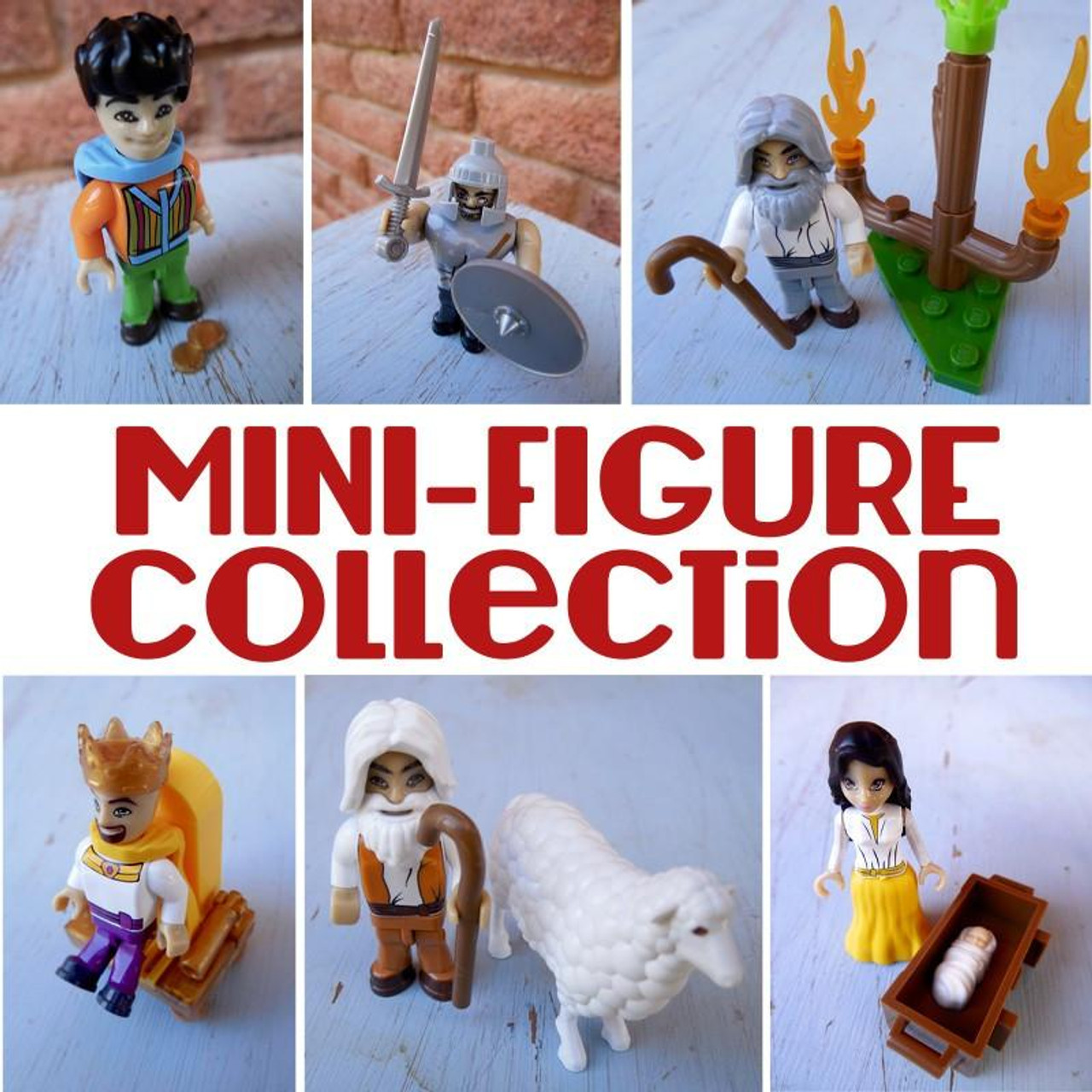 Mini Bible Figures Assorted Single (six different figures to collect) *