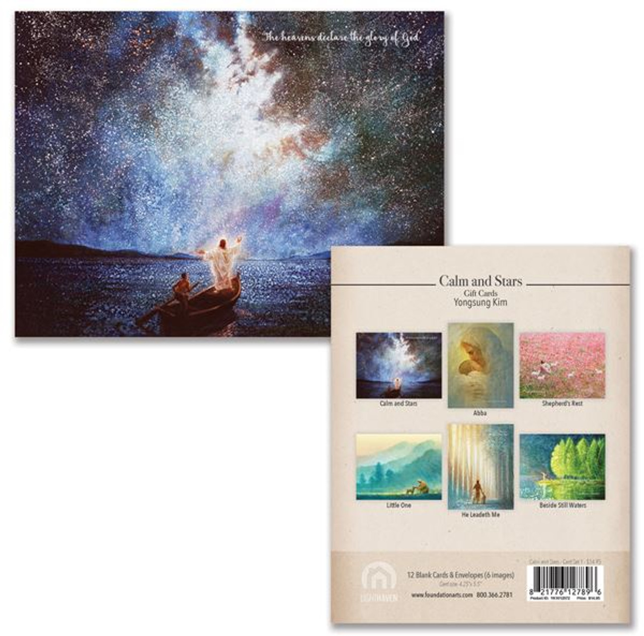Calm and Stars Note Card Box Set (12 Assorted cards)