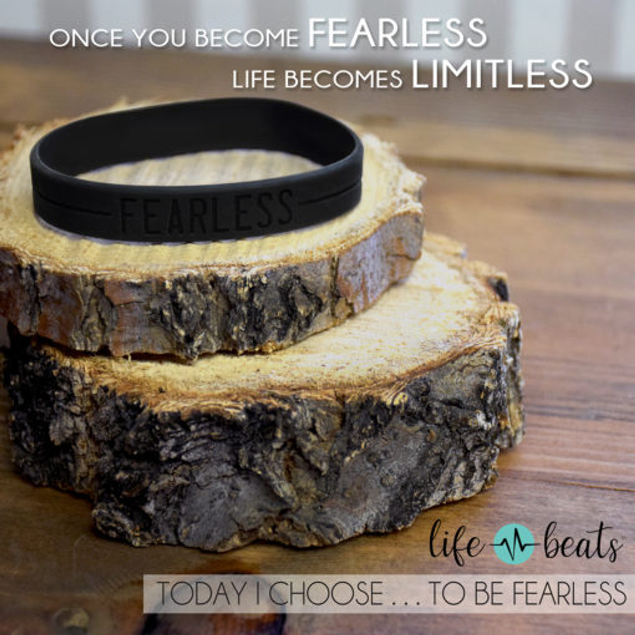 Fearless Silicone Wristband