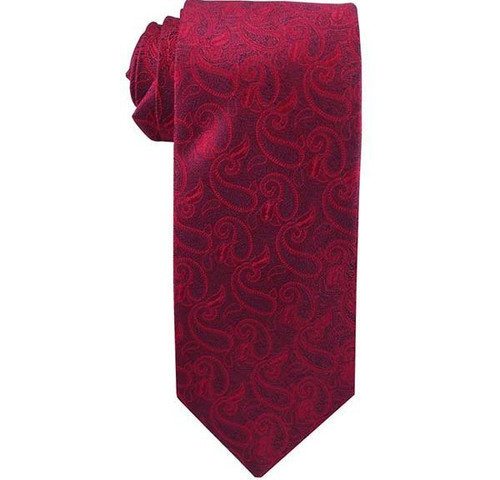 Angel Moroni Red Paisley Men`s Tie ages 14 +