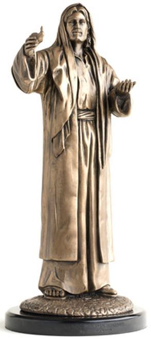 "Lead, Kindly Light 12"" Cold Cast Bronze by Simon Dewey"