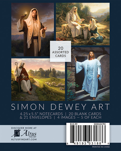 Simon Dewey Note Card Box Set (20 Assorted cards)