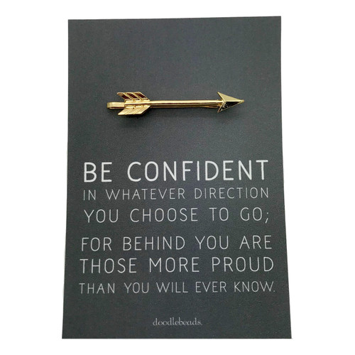 Be Confident Tie Bar Gold*