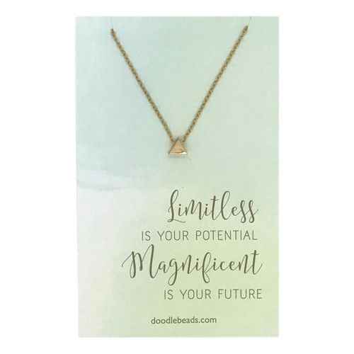 Limitless is Your Potential Necklace Gold*