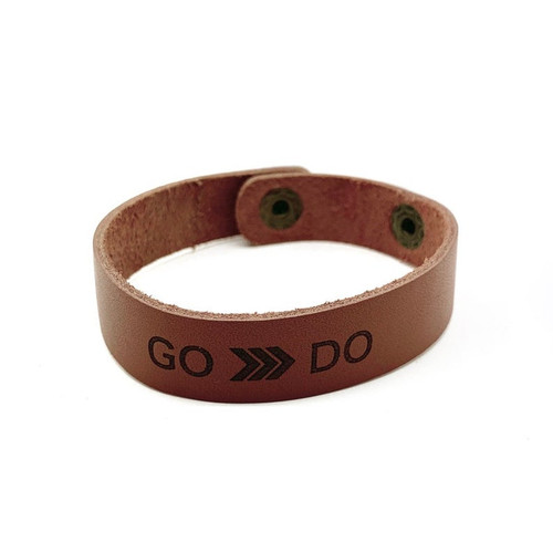 2020 Youth Theme: Go and Do Leather Bracelet