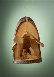Small Bark Slice Grotto With Palm Olive Wood From Bethlehem4 5 X3 Cardston Book Shop