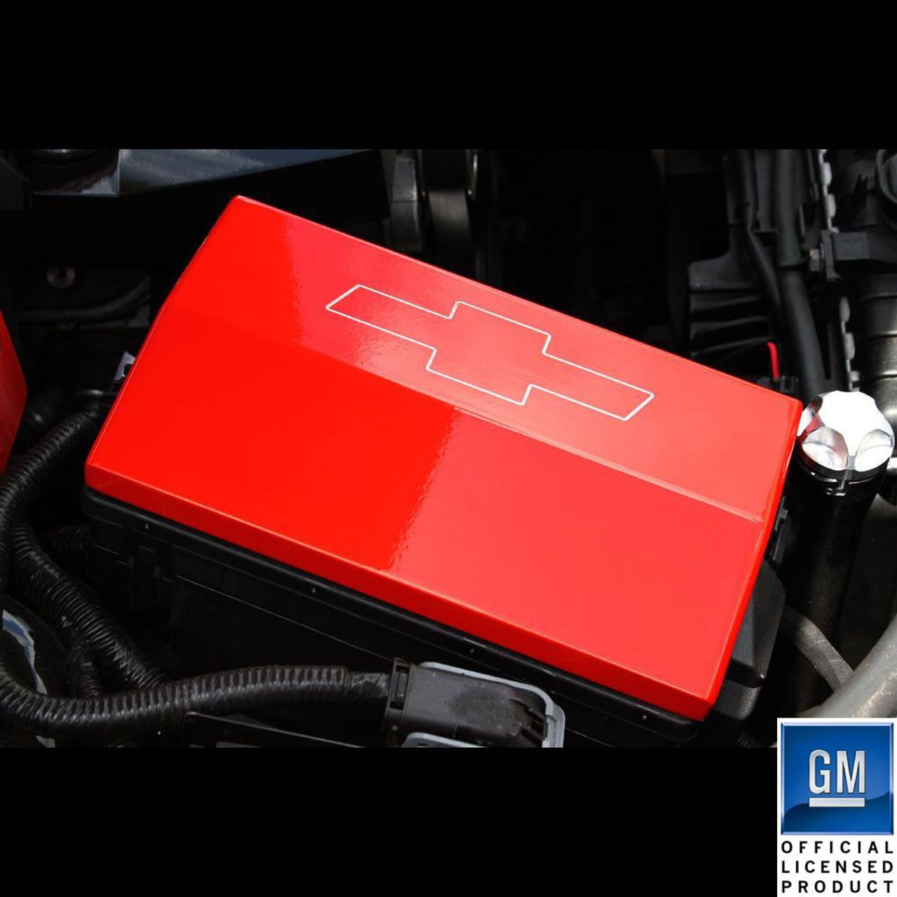 10-14 Chevrolet Camaro Billet Fusebox Cover Bowtie | Chevrolet Fuse Box Cover |  | UPR Products