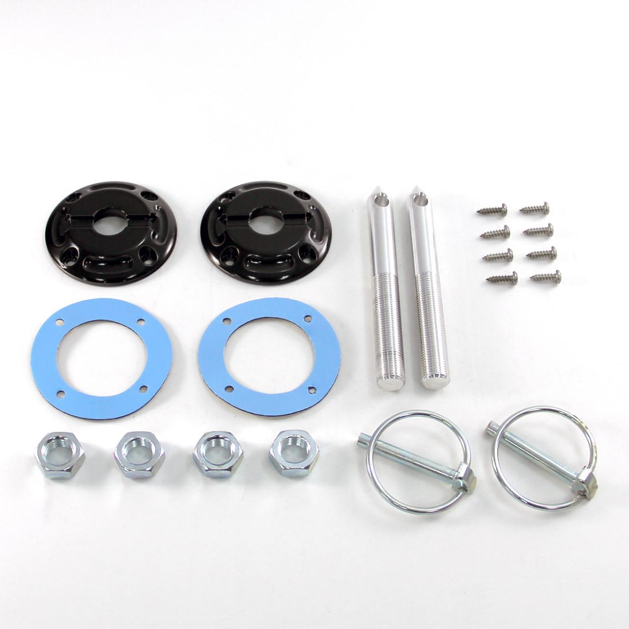 2005-2009 Mustang GT /& V6 Billet Aluminum Complete Hood Pin Pins Kit
