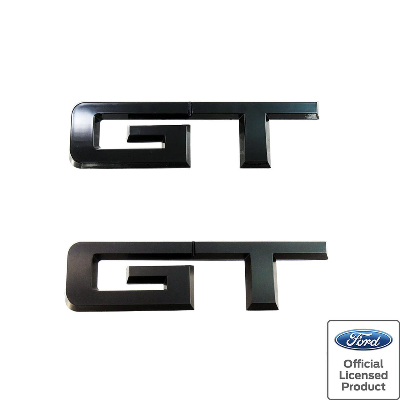 2015-2019 Mustang 5.0 GT Emblem Package Ruby Matte Black 4 Parts Kit