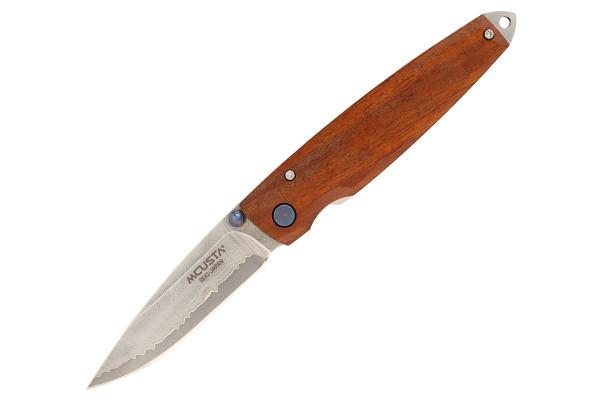 """Mcusta MC-77DI Shinra Emotion Tsuchi VG-10 Core Damascus Ironwood 3.75"""" Folding Knife"""