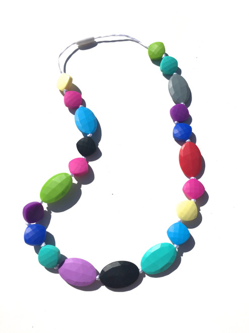 Silicone Teething  Multi - Color Necklaces