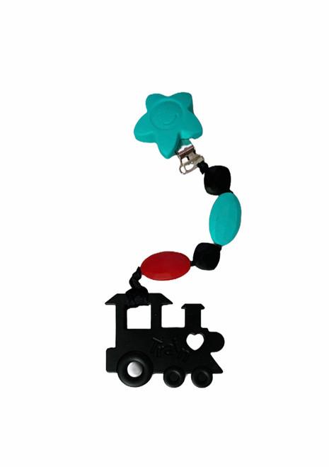 Silicone Train Teething Clip