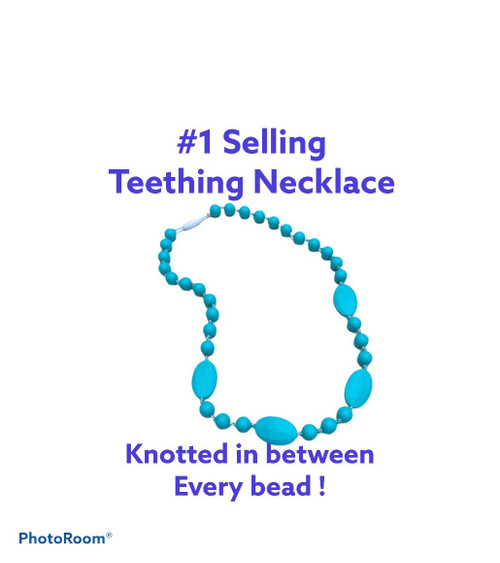Silicone Teal Teething Necklace