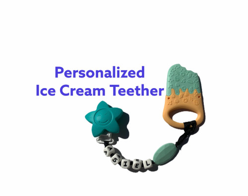 Ice Cream Teething Clip