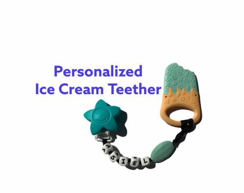 Ice Cream Teething Clip
