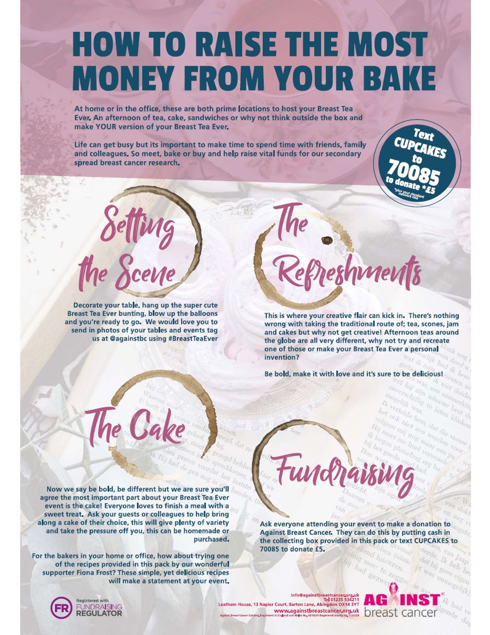 Breast Tea Ever Fundraising Ideas Against Breast Cancer