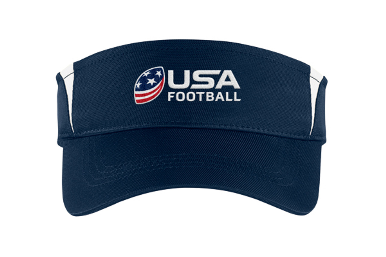 USA Football Logo Navy/White Visor