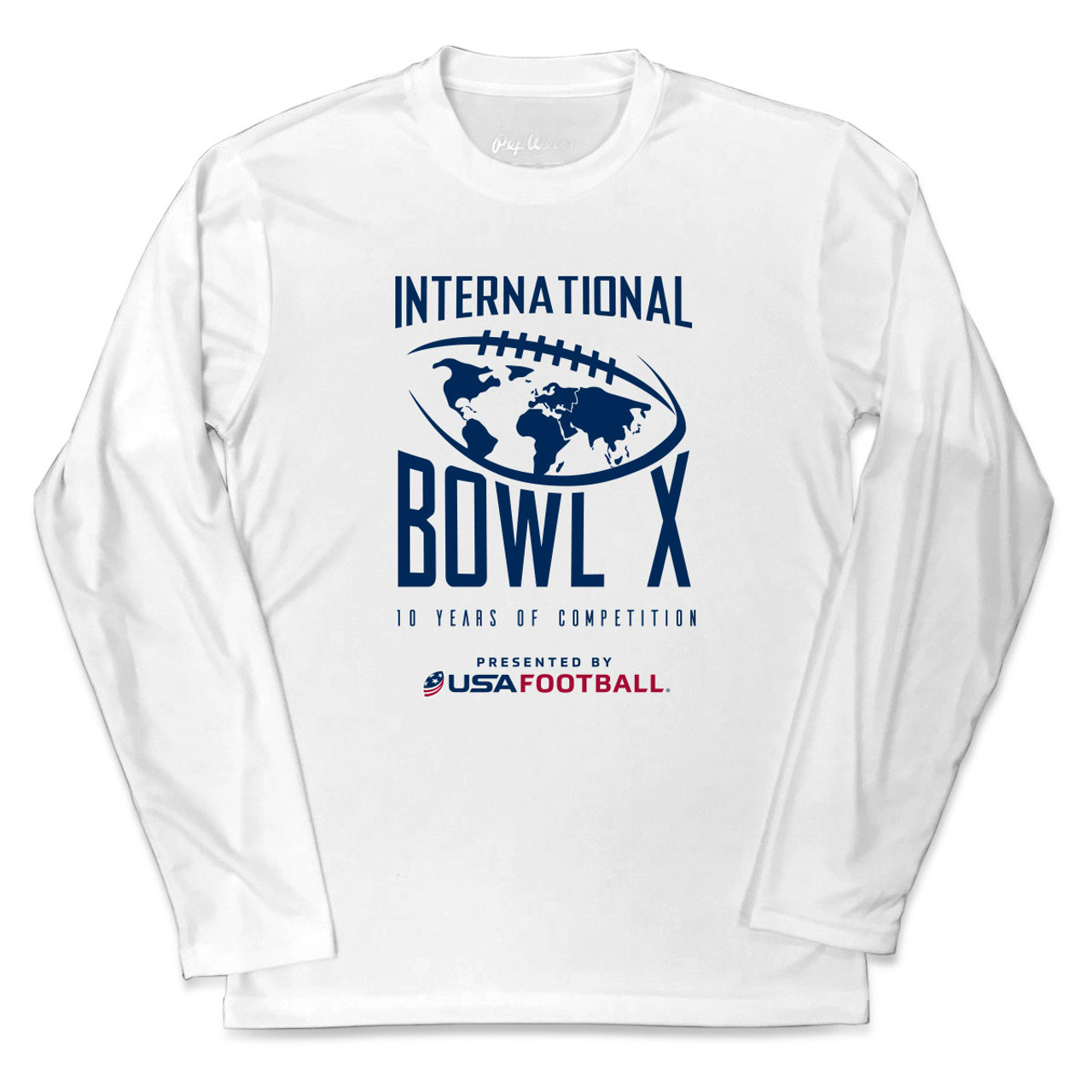 2019 USA Football International Bowl White Performance Long Sleeve