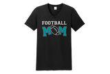 Football Mom V-Neck Shirt