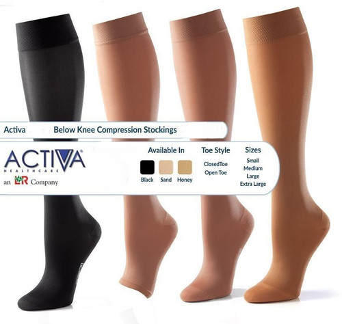 Activa Class 2 Below Knee Socks