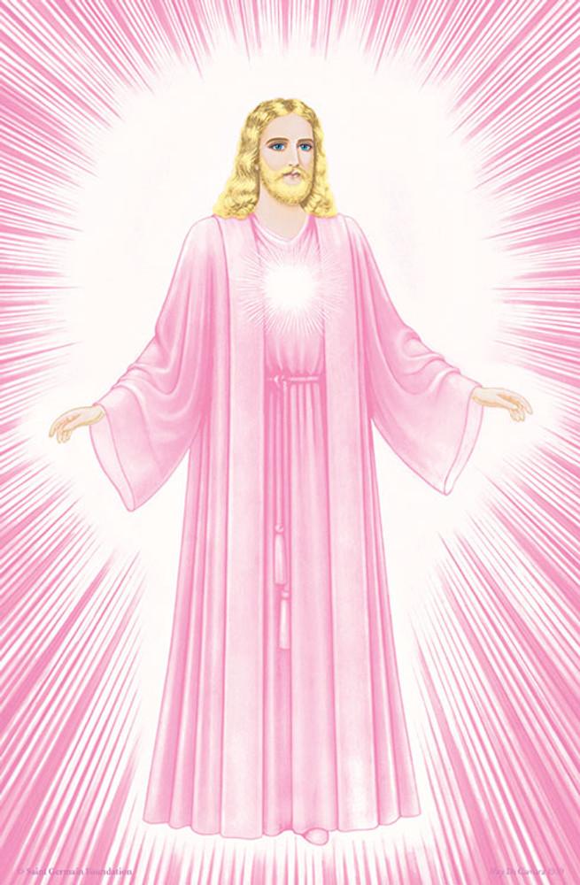 Jesus Luminous Presence - pink