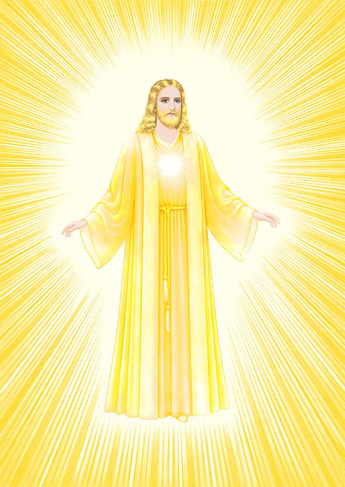 Jesus Luminous Presence - gold