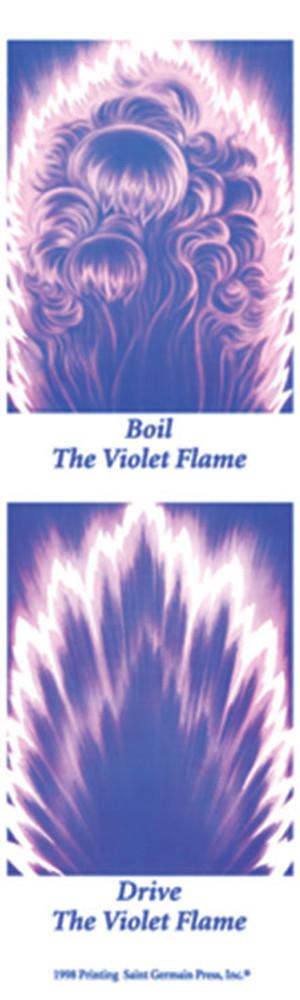 Violet Flame Bookmark • set of 2