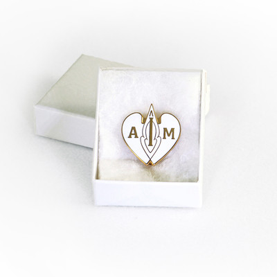 I AM Emblem - White Pin-Pendant