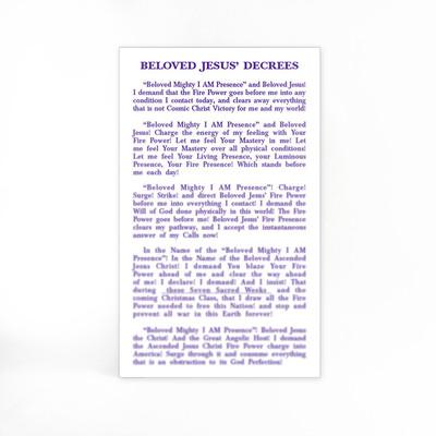 Beloved Jesus' Decrees