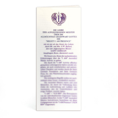 Ascended Master Instruction German - 10 pk