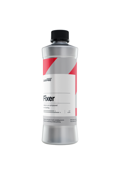 Silver 500ML cylindrical bottle with a black cap and a red, silver and white label.