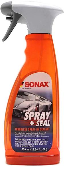 Orange 750ml spray bottle with a white sprayer.