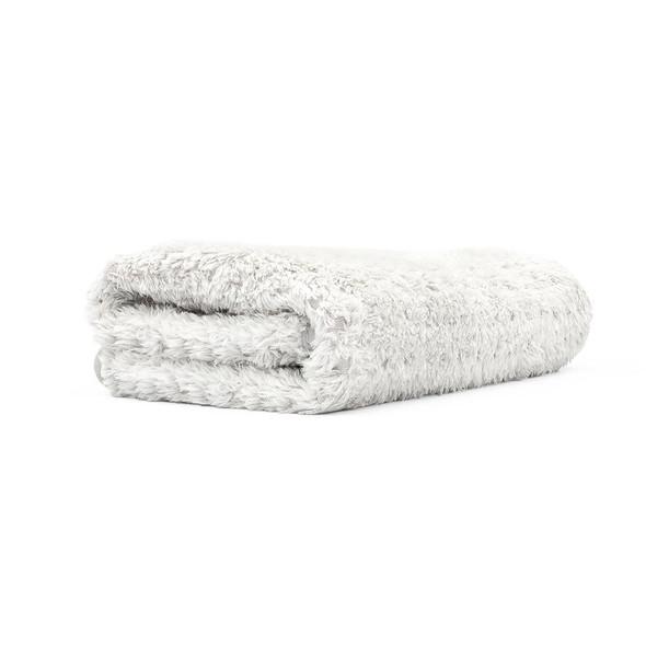 white Platinum Pluffle towel folded