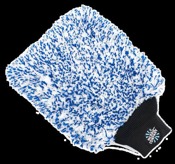 White and Blue wash mitt
