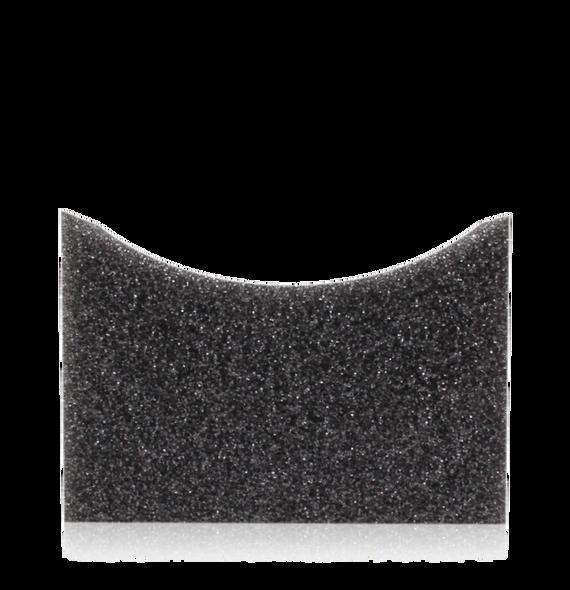 Black curved sponge applicator