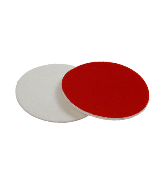 White pad with red a backing