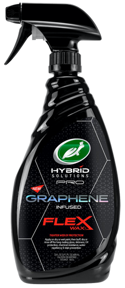 image of a bottle of Turtle Wax graphene infused flex wax for automobiles